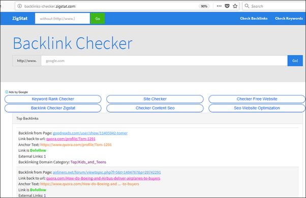 How does a website backlink checker work? - Quora