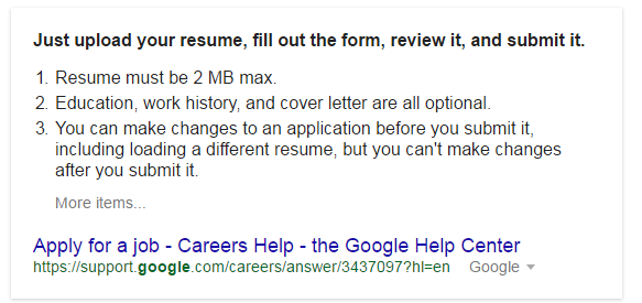 how to get a job at google quora