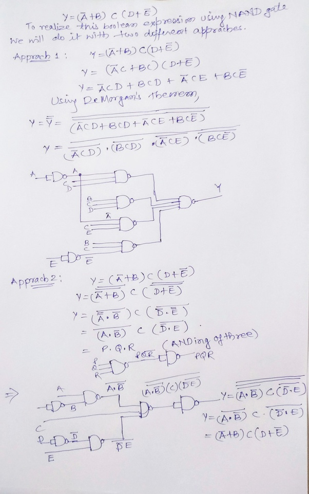 How Can This Be Simplified Using Only Nand Gate  A U0026 39  B  C