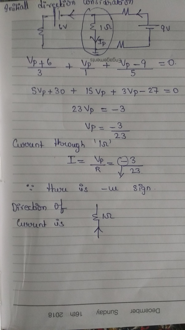 What Is The Magnitude And Direction Of Current Through A 1 Ohm
