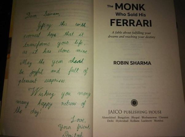 Did The Book The Monk Who Sold His Ferrari Change Your Life Quora
