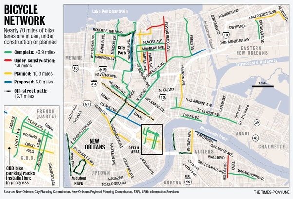 How easy is it to cycle in New Orleans? Are there any bike lanes ...