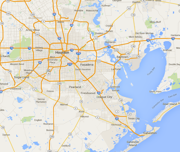 How close is Houston tx to the ocean Quora