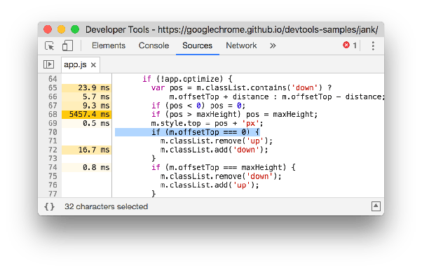 How to use the performance tab in Chrome dev tools and how