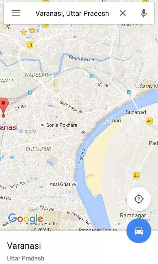 What Is The Basic Difference Between Varanasi Benaras And Kashi - Varanasi map