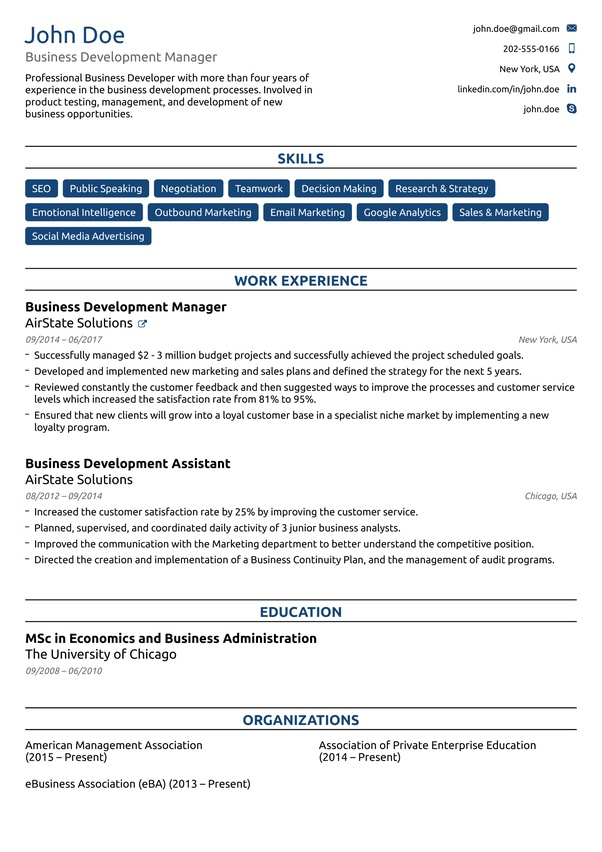 what are the best formats for a resume