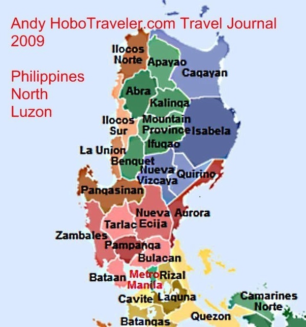 North Philippines Map Where is quezon province in the Philippines?   Quora