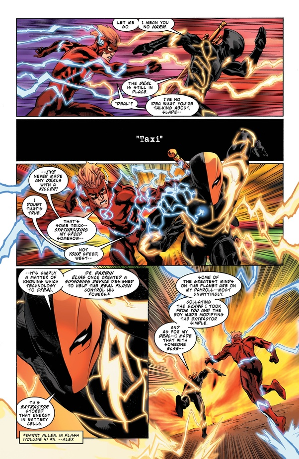 Can Deathstroke With Speed Force Defeat Bloodlusted Barry Allen Flash Quora