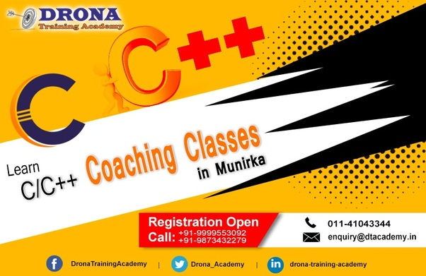 185e8ec9a At Drona Training Academy a leading c++ cbse coaching institute we know the  importance of C - C++ - DS Language. As it is a foundation of software ...