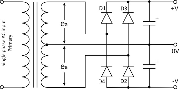 Full Wave Centertapped Rectifier By Circuitstoday Full Wave Bridge