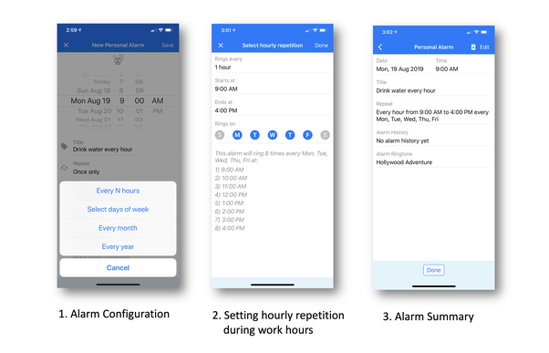 How to schedule an alarm every one hour on an Android device