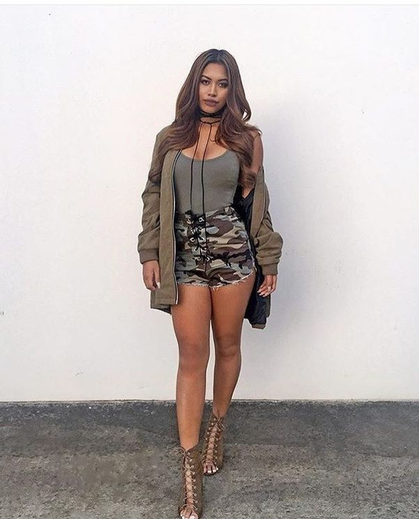 Find and save ideas about Camo shorts outfit on Pinterest. | See more ideas about Camo girl clothes, Camo clothes and Camo shorts.