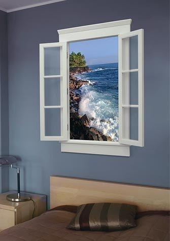 Or Choose A Piece Of Art That S Pretending To Be Window You Can Even Design It Look Realistic Accenting With Curtains And Rod