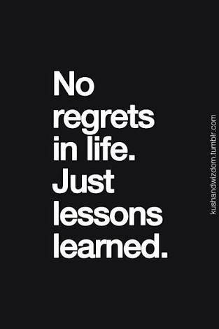 Regrets Will Be Depressing If You Donu0027t Gain Anything From The Experience.  But If You Learn A Lesson And Value That, You Will Have Better Days.