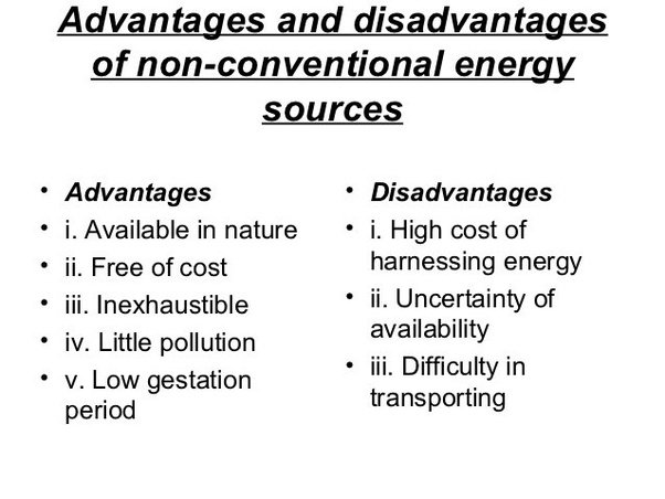 Conventional and non-conventional energy sources | Short Essay For Students