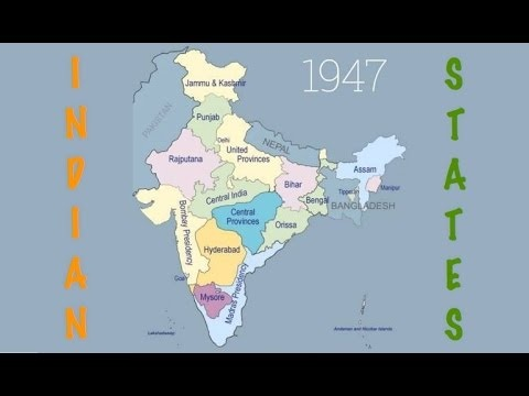 How many states were there in India at the time of