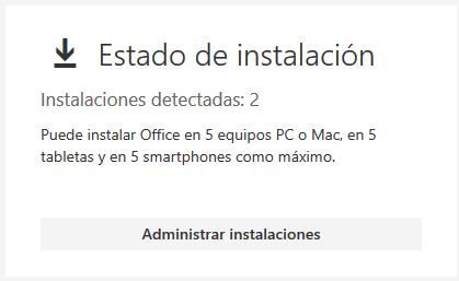 Cuántas instalaciones de Microsoft Office incluye la suscripción a
