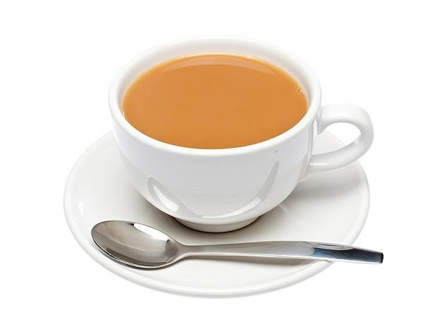 Calories in 1 cup tea with low fat milk