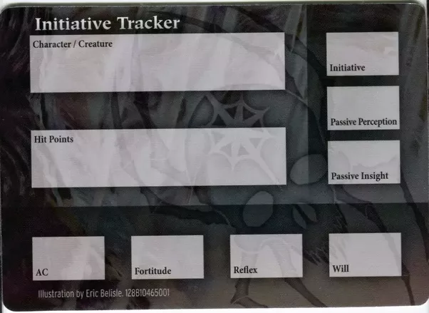 Breathtaking image throughout initiative tracker 5e printable
