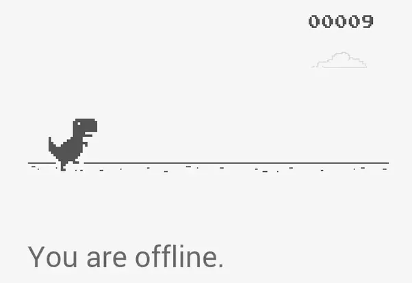 Why Google Chrome Shows A Dinosaur While You Are Offline