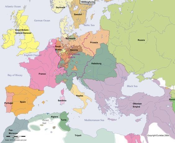 How was france so powerful during the napoleonic wars only a couple consider the map of europe below from around 1800 after napoleon had established himself as first consul gumiabroncs Choice Image