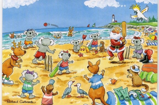 everyone is expected to join in playing australias national sport including granddad aunt mary santa claus and any kids old enough to walk