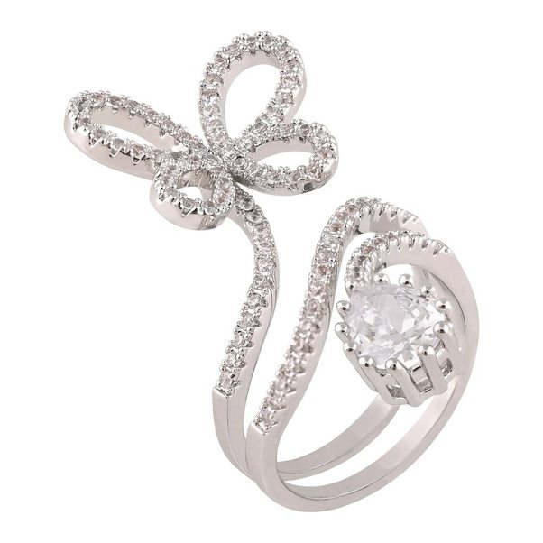 open wedding shaped heart can adjustable crystal women ring for jewelry hosaire dp elegant rings it