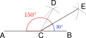 Can we construct 150 degree angle using compass? - Quora