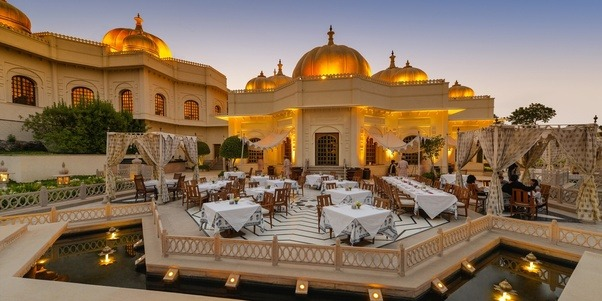 Located Amidst The Traditional Indian Forts Monuments And Palaces Hotel Provides Royal Beauty Rippling Fountains
