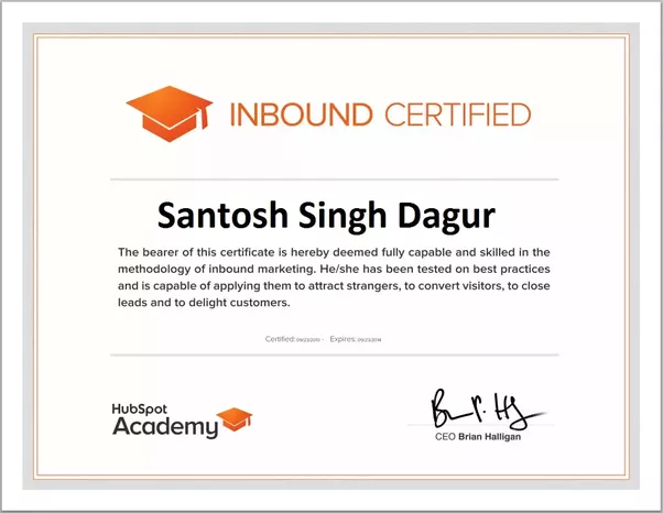 What is the advantage of having a HubSpot inbound certification? - Quora