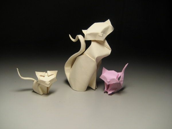 Very Few Origami Cats Are Based On A Desire For Absolute Anatomical Accuracy Most Designers Want To Express The Feline In More Or Less Direct Way