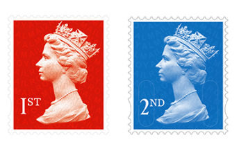Uk Second Class Stamps On A Letter To