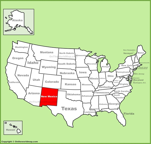 What part of the United States is New Mexico located in? - Quora