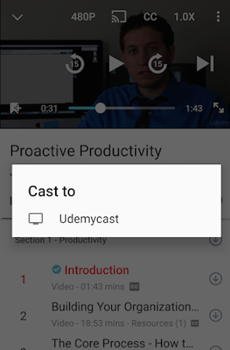 Can I use Chromecast to see Udemy videos from their app? - Quora