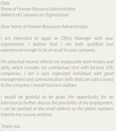 Check Out Some Of Examples Of Cover Letter For Office Assistant. Hereu0027s One  Of Them, For More Visit The Site:  Human Resources Assistant Cover Letter