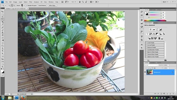 Is it possible to add a touch of green vegetable to my food once you are happy with your selection add a layer adjustment and choose colour balance as the type then adjust the green slider to make the greens ccuart Choice Image