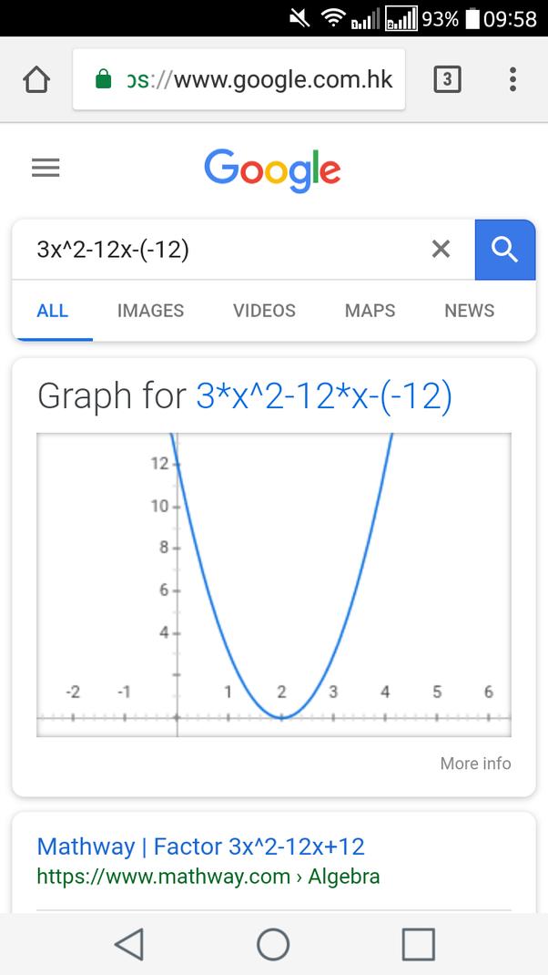 What Is [math]3x^2-12x-(-12)[/math]? - Quora