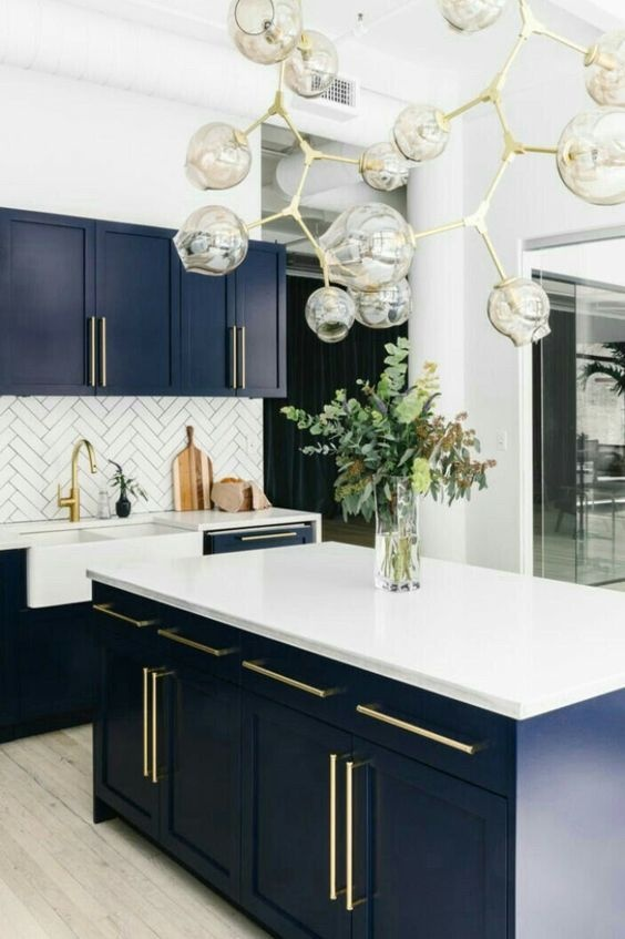 What Shade Of Blue Dark Blue Should I Paint My Kitchen Cabinets Quora