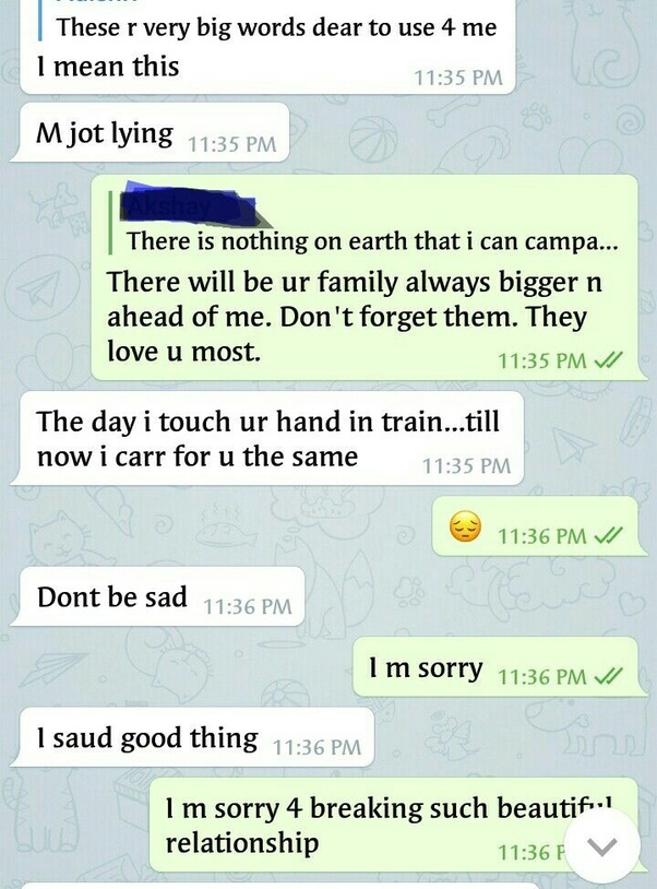 emotional conversation between lovers