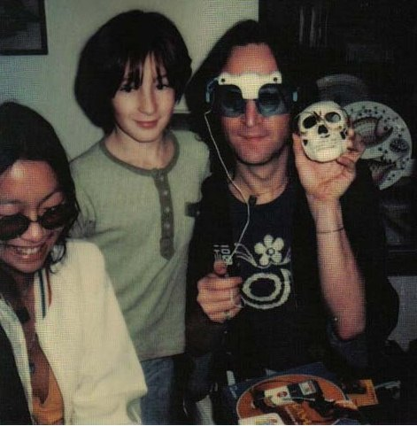 Heres A Photo Of Julian Visiting John During The Time He Was Separated From Yoko And With May Pang
