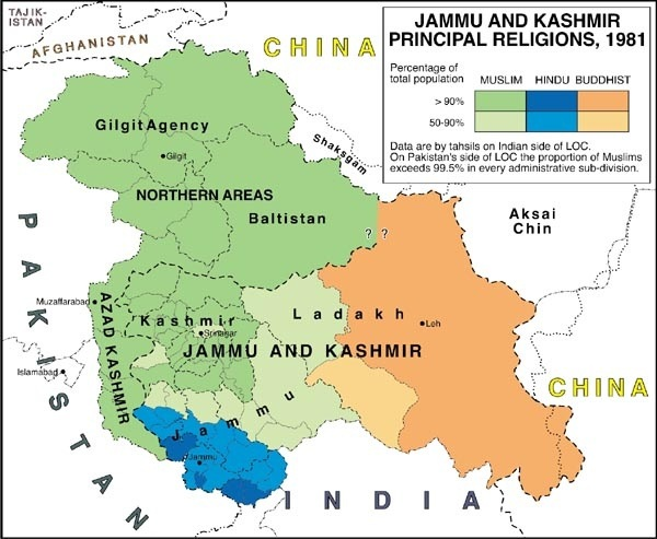 What is the correct map of Jammu Kashmir of India Quora