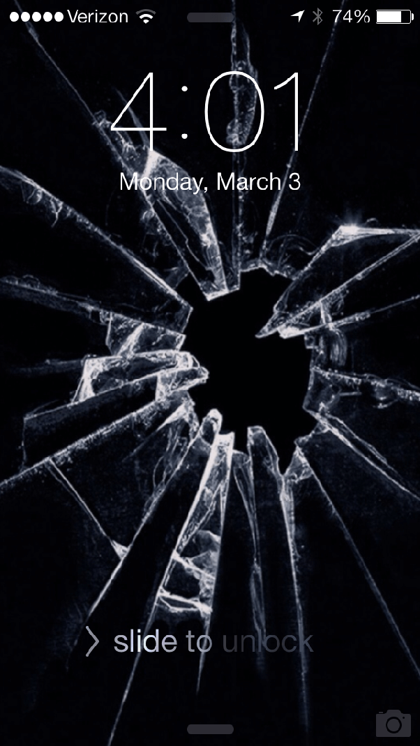 How to obtain a cracked screen wallpaper for an iPhone - Quora