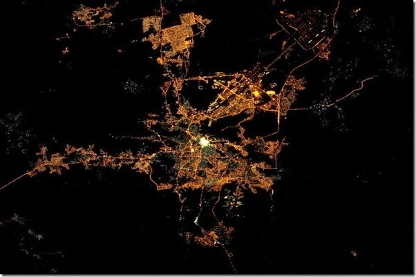 Is makkah really seen enlightened from outer space as many muslims source night view of cities from space voltagebd Image collections