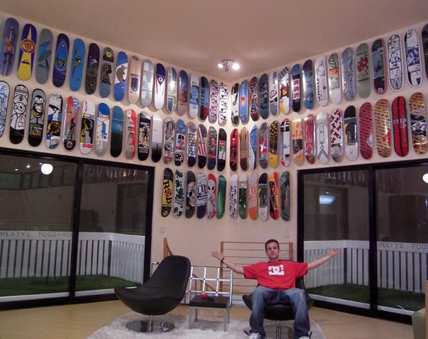 skateboard deck hang decks racks