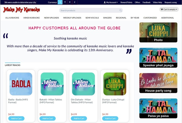 Which is the best website to download Hindi karaoke from