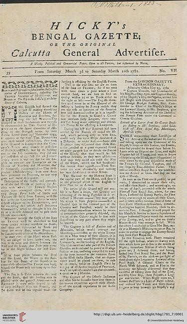 first indian english newspaper