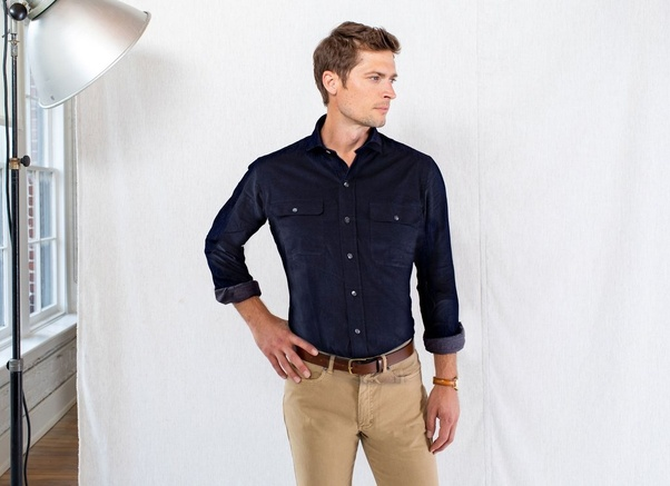 fc6378d1cc4 What color pants will match a navy blue shirt  - Quora