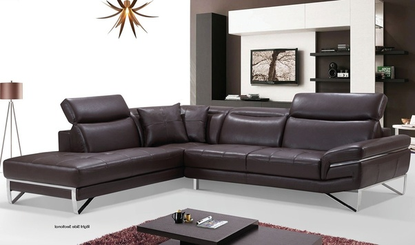 Where can I get a big leather sofa in chocolate color online at an ...