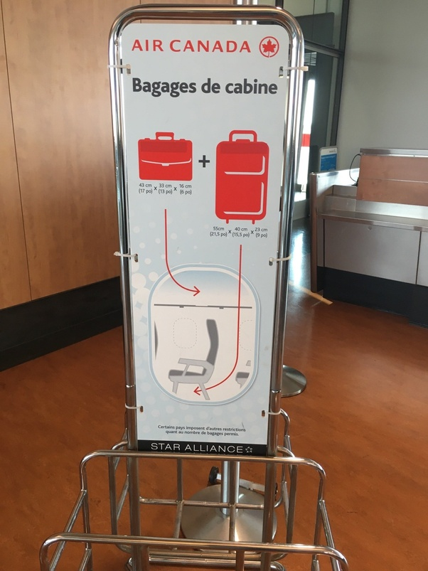 nouveau style 31b9a d4373 What are the carry-on restrictions for Air Canada? - Quora