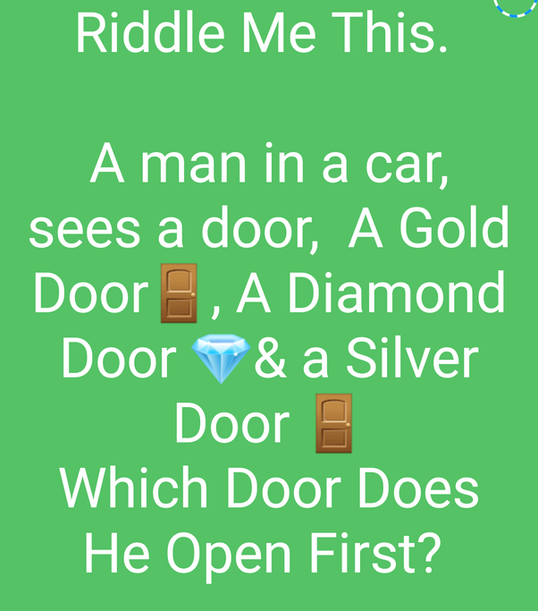 Thatu0027s all about this question.  sc 1 st  Quora & A man is in his car. He sees three doors; a golden one a diamond ...